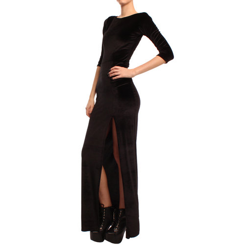 Ark Black Jamila Velvet Maxi Dress £24.99