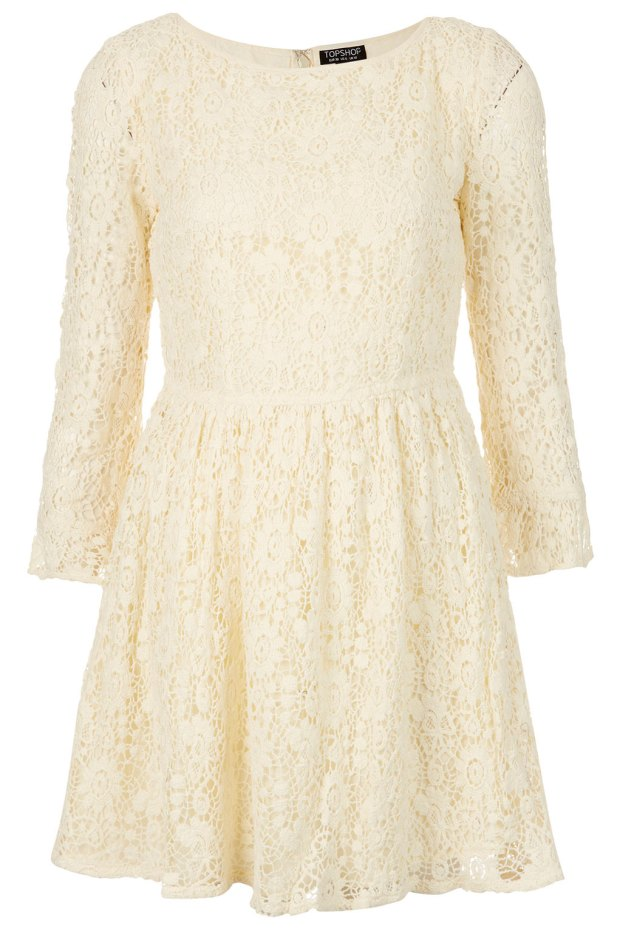 CROCHET LACE FLIPPY DRESS £48