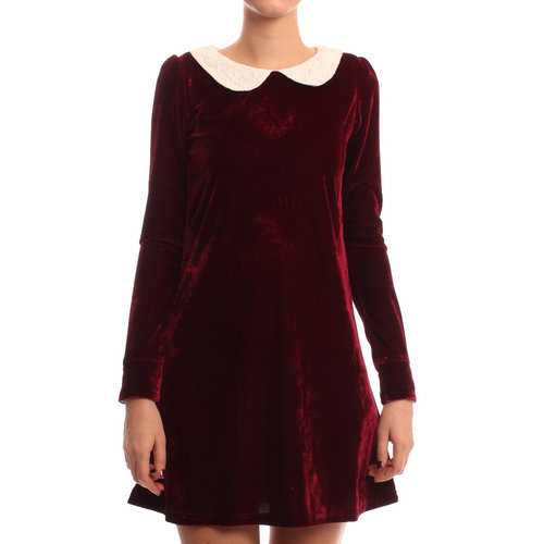 Oh My Love Burgundy Peterpan Dress £38.99