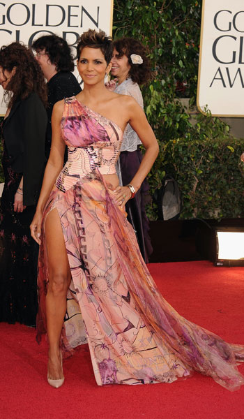 Halle Berry in Versace ...Past your sell by date.