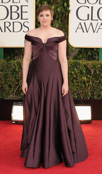 Lena Dunham in  Zac Posen .... No, just no.