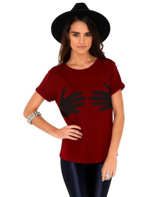 http://www.missguided.co.uk/mitzi-hand-print-tee-52751
