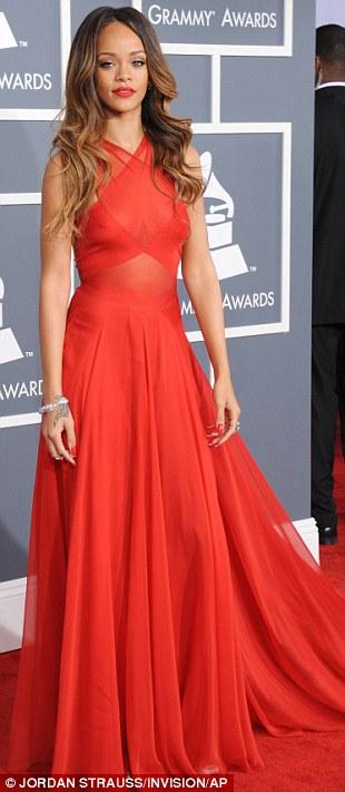 Rihanna Grammys 2013