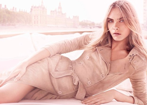 Cara Delevigne for Burberry March 2013