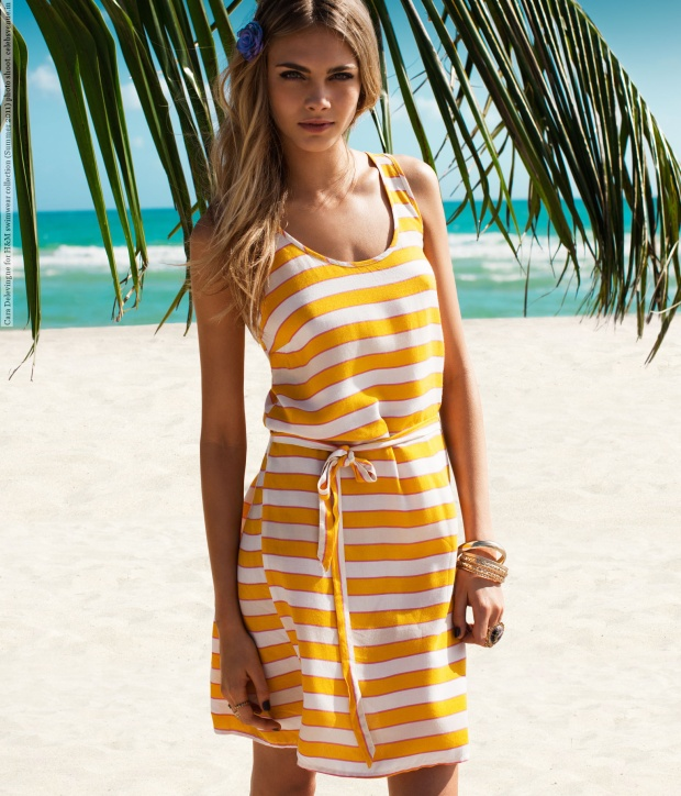 Cara Delevingne for H&M swimwear collection (Summer 2011) photo shoot